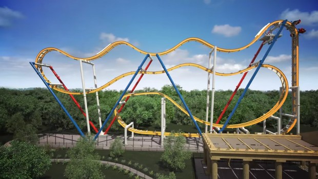 Six Flags Mexico 2018 Wonder Woman Coaster Rendering