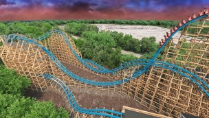 Six Flags Over Georgia Twisted Cyclone Rendering