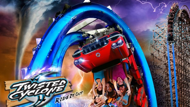 Six Flags Over Georgia Twisted Cyclone Train Rendering