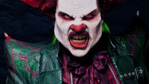 Walibi Holland Fright Nights - Eddie der Clown Nahaufnahme