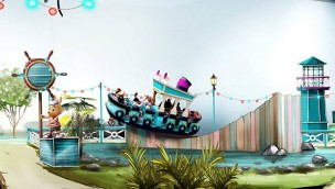 Walibi Rhone Alpes Rockin Tug Artwork