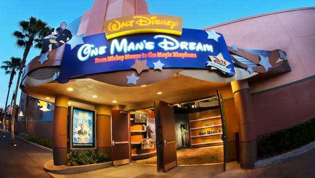 Walt Dinsey one Mans Dream Eingang