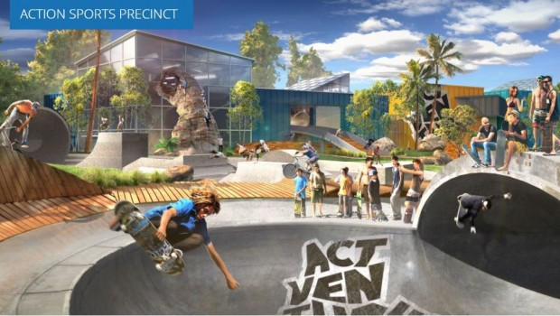 Actventure Artwork Action Sports Precinct