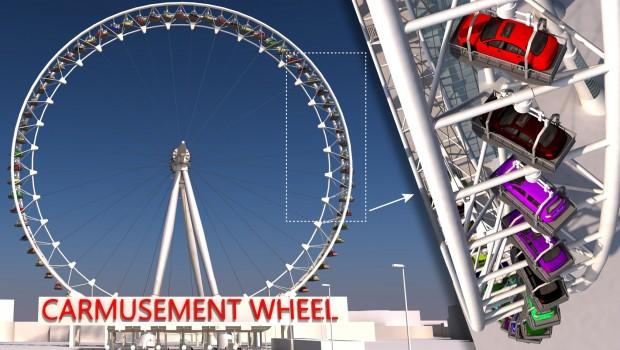 Auto im Riesenrad - Carmusement Wheel Rendering