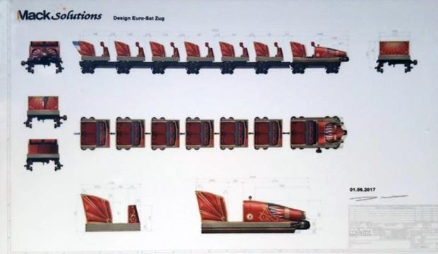 Eurosat Umbau neuer Zug Design Konzept