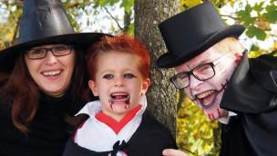 Halloween im Skyline Park - Familie, Hexe