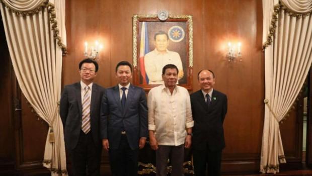 Landing International Development Limited Philippinen Präsident Rodrigo Duterte