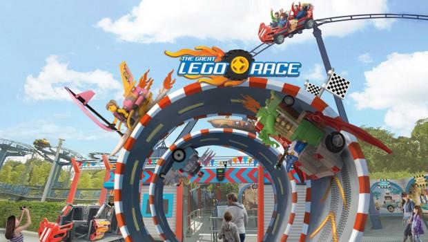 LEGOLAND Virtual Reality Achterbahn The Great LEGO Race Artwork