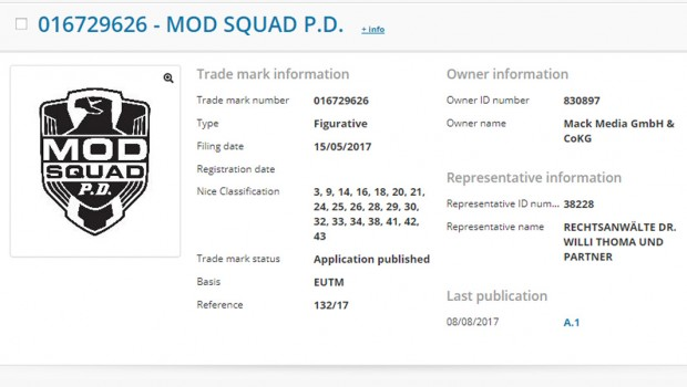 Europa-Park Simba Dickie Group Marke Mod Squad P.D. Anmeldung