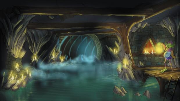 """Artwork von """"Merlin's Quest"""" im Toverland"""