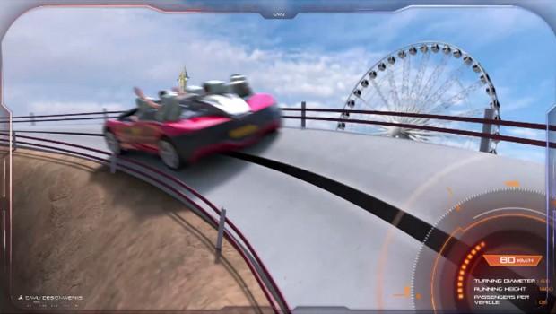 Cavu Designwerks Turbo Racer Outdoor Achterbahn Artwork