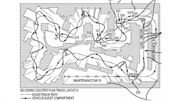 Disney Swinging Ride Patent Layout