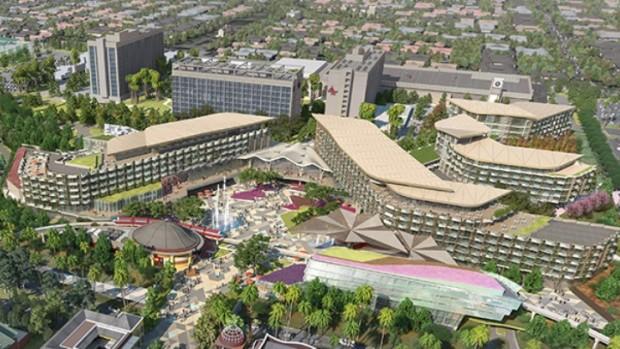 Disneyland Resort Anaheim Artwork Four Diamond Hotel