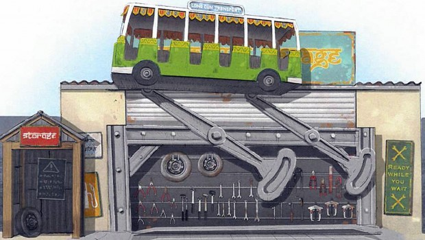 Djurs Sommerland 2018 Zamperla Crazy Bus