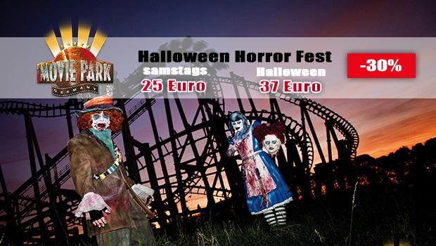 Hallowen Horror Fest Ticket für 31. Oktober 2017 im Movie Park