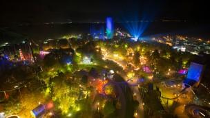 Hansa-Park bei Nacht - Luftaufnahme