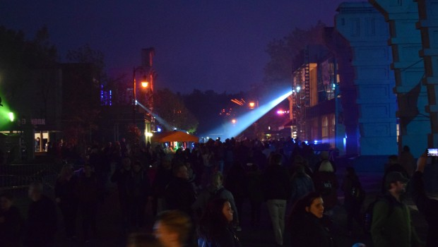 Scarezone im Themenbereich Streets of New York beim Halloween Horror Fest im Movie Park Germany
