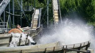 Schwaben-Park erneuert Wildwasserbahn: 2018 mit Sägewerk-Thematisierung und Soundtrack