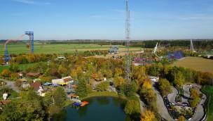 Skyline Park Luftaufnahme Riesenrad 2017