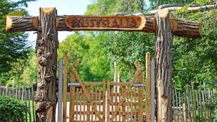 Zoo Karlsruhe Australien-Anlage Eingang neu