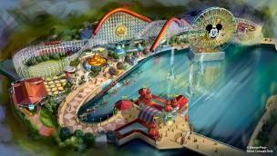 Disneyland California Adventure Park Pixar Pier Artwork