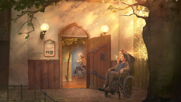 Droomvlucht Rollstuhlfahrer Efteling Artwork