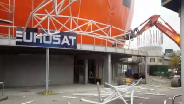 Abriss Eurosat im Europa-Park