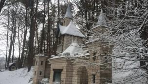 Fränkisches Wunderland im Winter mit Schnee