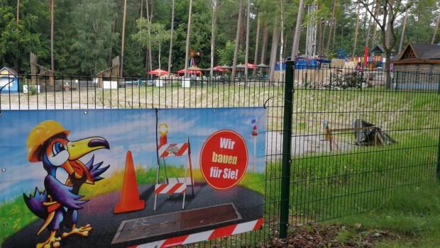 Freizeit-Land Geiselwind Dactari-Fahrt Baustelle