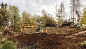 Freizeitpark Plohn Baubeginn Big Dipper-Achterbahn Dynamite