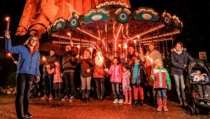 Kernie's Familienpark Winter Fackelzug