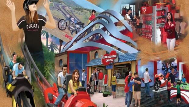Mirabilandia Ducati Motorrad-Achterbahn 2019 Artwork