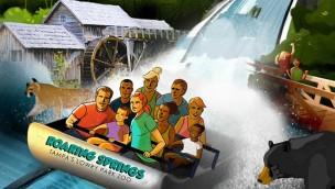 Tampa's Lowry Park Zoo Wildwasserbahn Roaring Springs Artwork