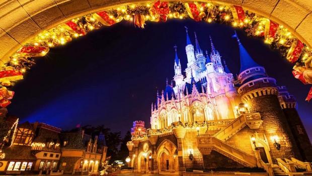Tokyo Disneyland Weihnachtsdekoration Schloss