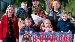 Toverland begrüßt 2017 seinen acht-millionsten Besucher