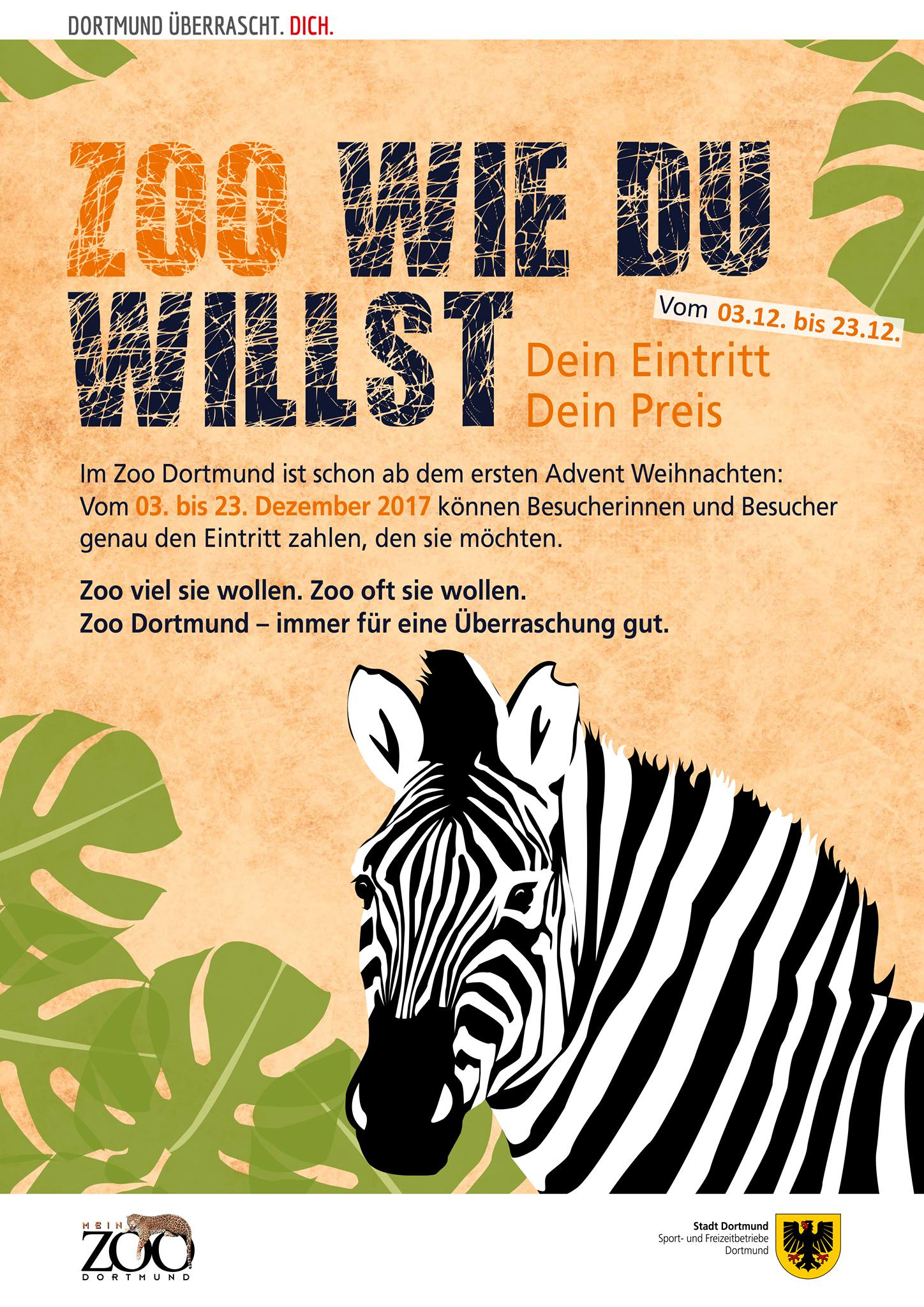 zoo dortmund im dezember 2017 mit zahl was du willst aktion. Black Bedroom Furniture Sets. Home Design Ideas
