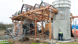Baustelle im Blick: Gebäude für neuen Eingang des Toverland werden errichtet