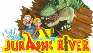 """Cavallino Matto eröffnet 2018 Dinosaurier-Bereich mit Wasserbahn """"Jurassic River"""""""