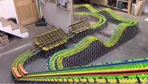 Duell-Holzachterbahn Colossal Racer Knex
