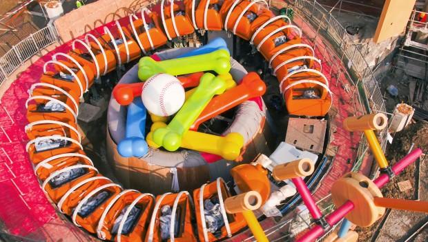 Disenyland Shanghai: Bau von Slinky Dog Spin