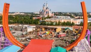 Bau des neuen Themenbereich Toy Story Land in Disneyland Shanghai