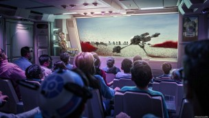 Disneyland paris Star Tours Crait