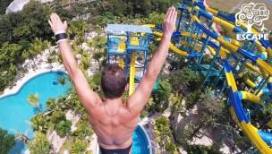 Escape Theme Park plant längste Wasserrutsche der Welt zur Eröffnung 2018