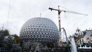 """""""Eurosat""""-Baustelle im Video: Arbeiten für Erneuerung der Achterbahn im Europa-Park in vollem Gange"""