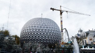 Eurosat Baustelle Europa-Park im Winter 2017