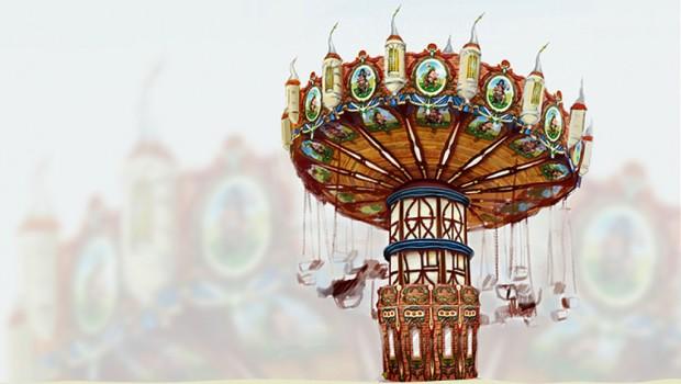 Kurpfalz-Park 2018 Neuheit Kettenkarussell Wutzels Piratenflug