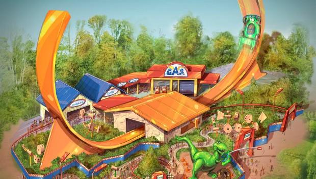 Toy Story Held Rex ist natürlich auf mit von der Partie als rasante Fahrattraktion (Foto:  Shanghai Disney Resort)