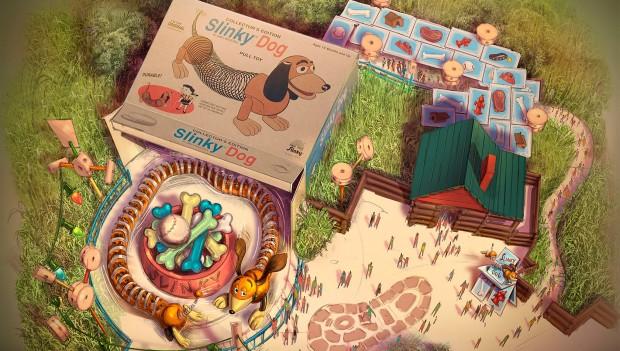 Shanghai Disney: Zeichnung der Attraktion Slinky Dog Spin