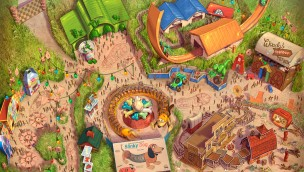 Shanghai Disney: Zeichnung von Toy Story Land