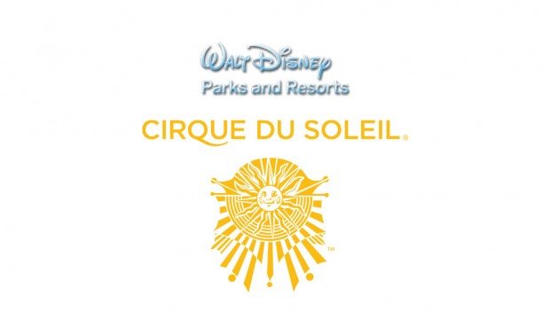 Logos Walt Disney Parks and Resorts und Cirque du Soleil